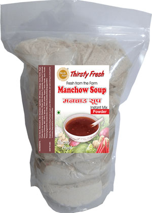 Thirsty Fresh Instant Manchow Soup Powder Zipper Front View
