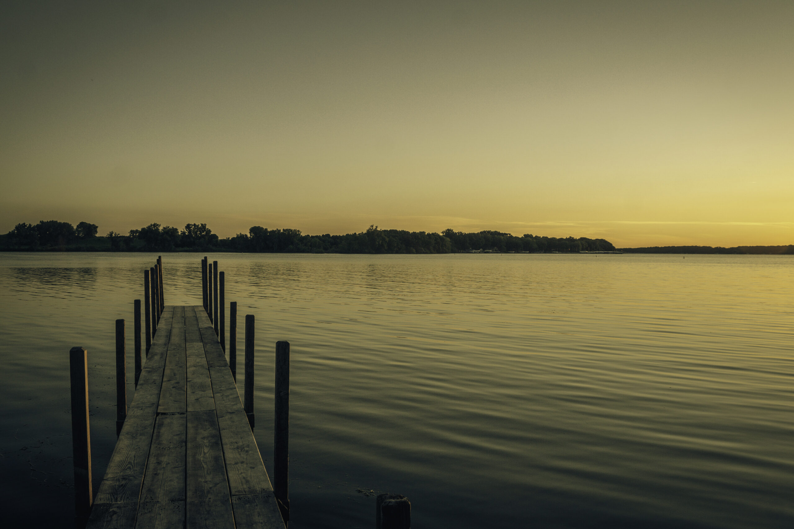 Sunrise on Lake Okoboji in the Summer 2020