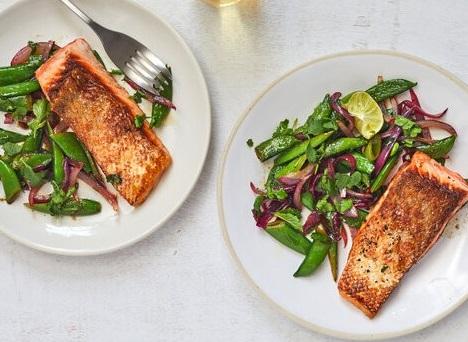 Salmon & Sugar Snaps — Recipe of the Week