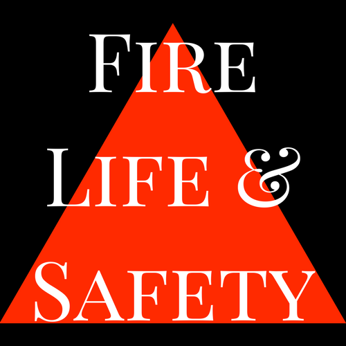Fire Safety Fire Life & Safety Picture of safety cone and text saying fire life and safety