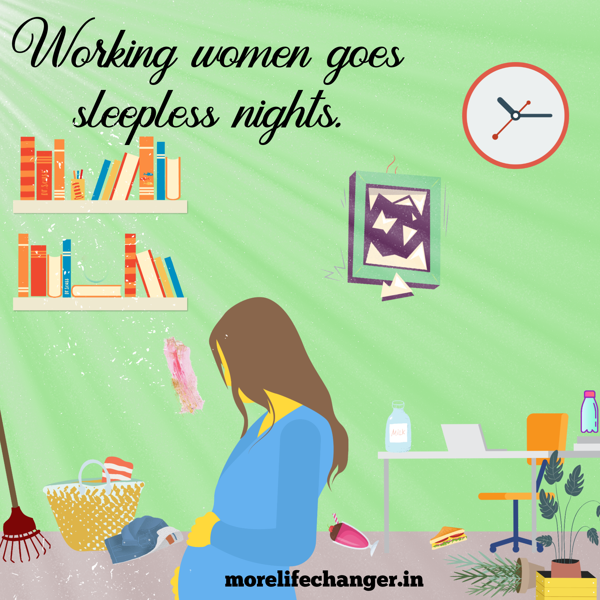 Working women goes sleepless night