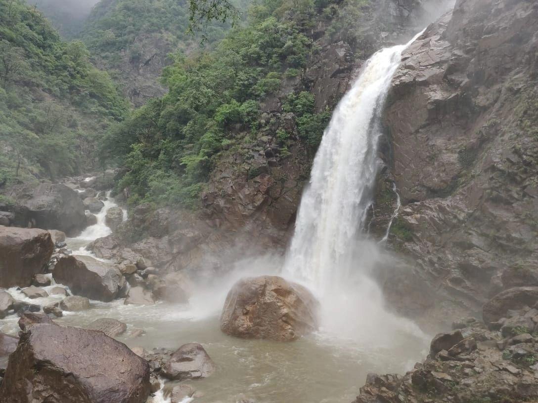 Mesmerizing Rainbow Waterfall