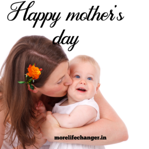 Moms love and Moms kiss makes day for the children.