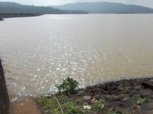 Kherkatta Dam full of water . Kapsi , Pakhanjore , Chhattisgarh.