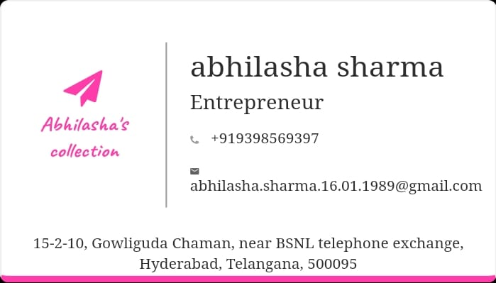 Abhilasha's collection