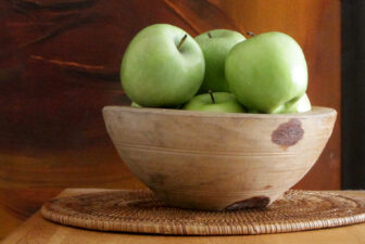 0012-VNT-vintage-wooden-bowl