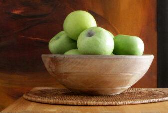 0013-VNT-vintage-wooden-bowl