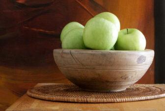 0015-VNT-vintage-wooden-bowl