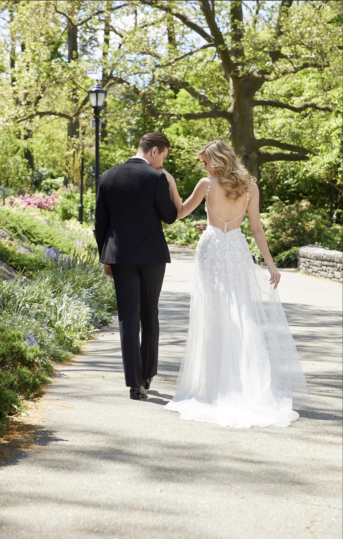 Bride in wedding dress with groom