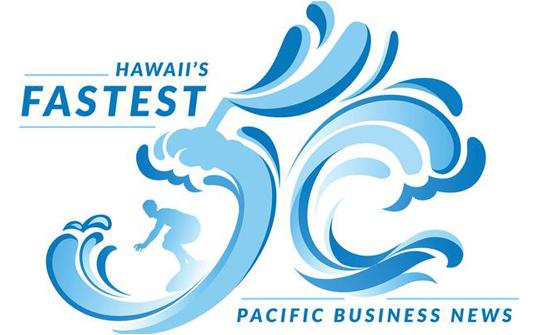 Pacific Business News Hawaii's Fastest 50 Award