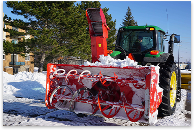 Green Tractor Snow Removal