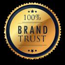 100% Brand Trust Logo