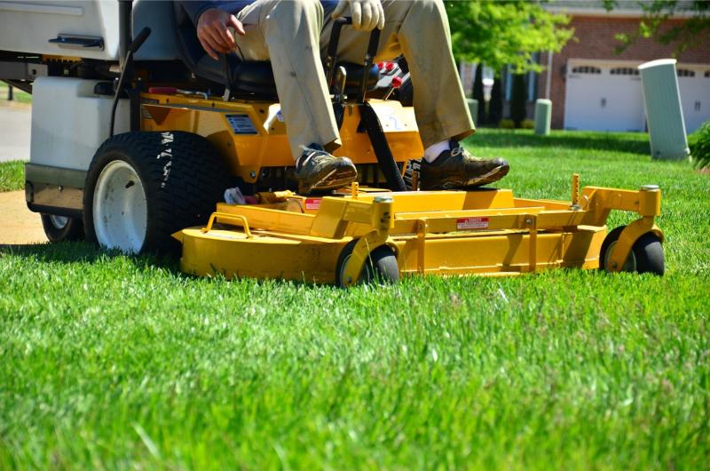 commercial lawn operator