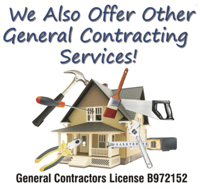 We also offer General Contracting Services