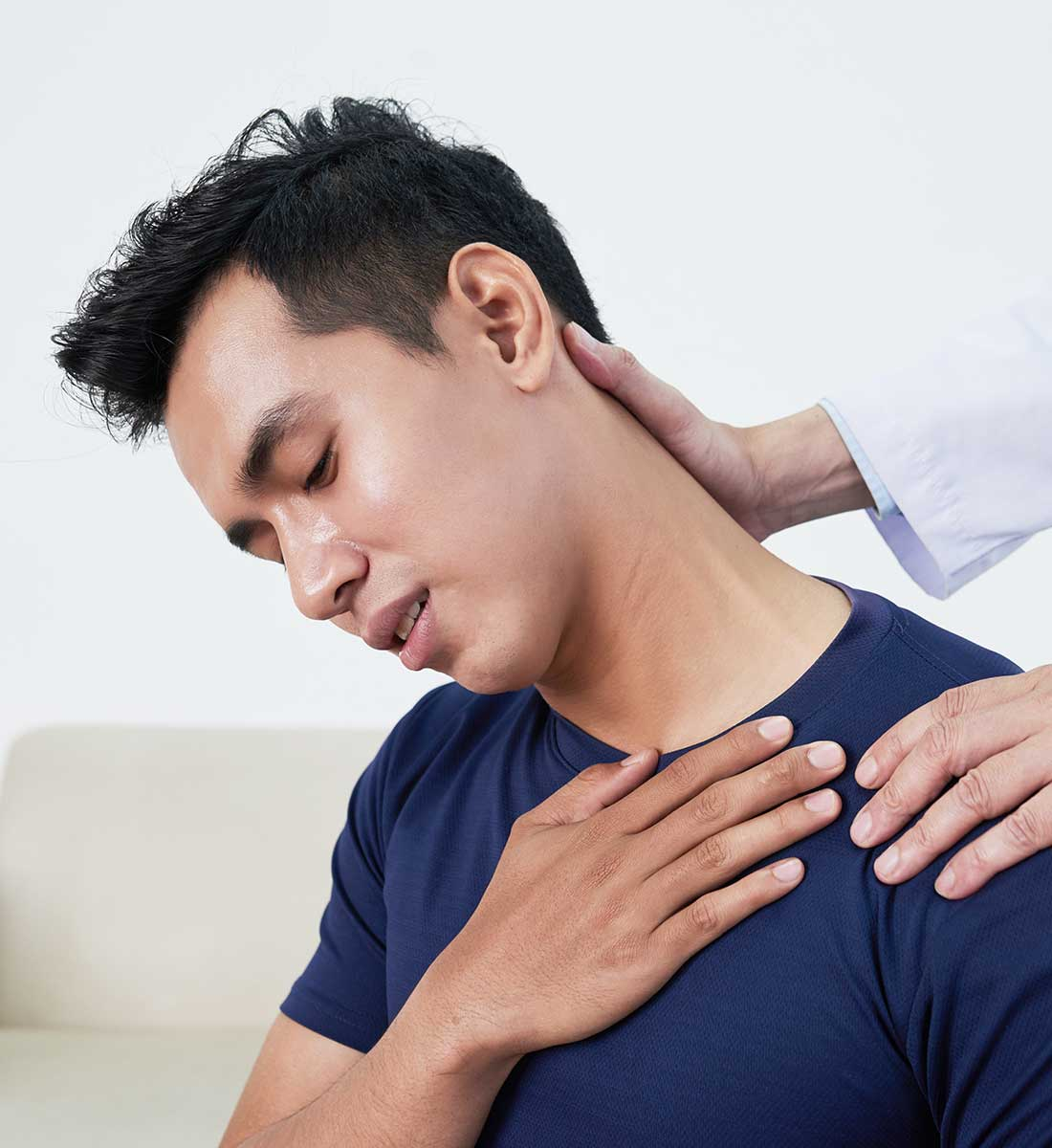 Patient Suffering From Neck Pain