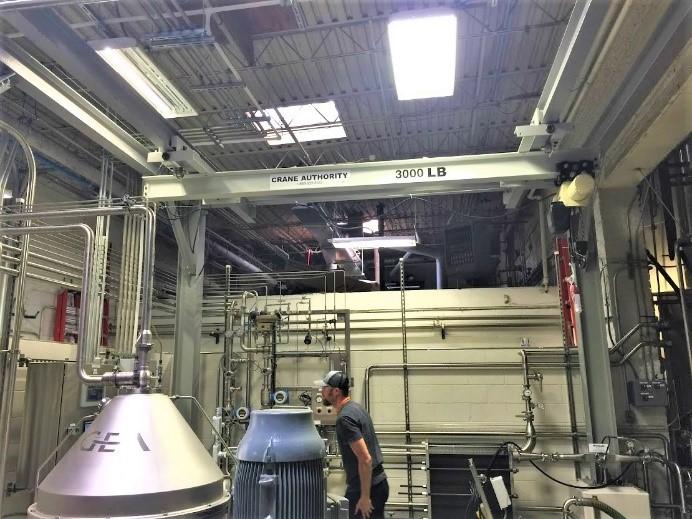 Underhung Bridge Crane - Goose Island Brewery