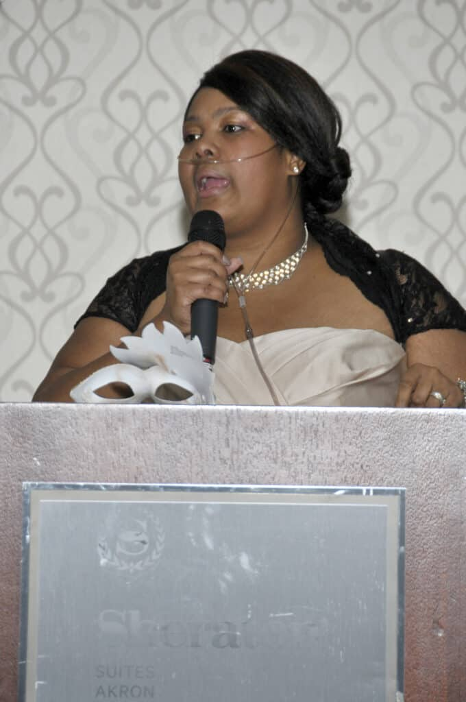 Markeda as M.C. at our 2018 Awards Gala