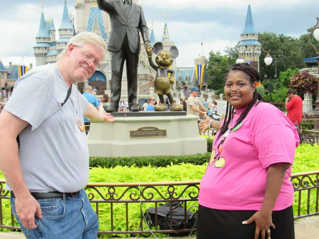 Steve & Markeda on our Kids' Summer Camp trip to Disneyworld