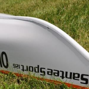 White Keel Plate on Kayak