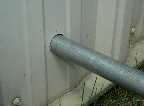 Remove Pipe from Shed