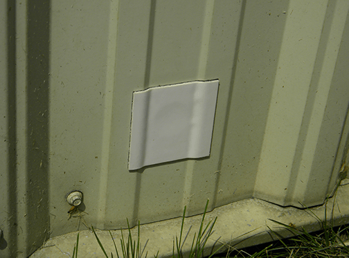 Finished Repair Patch on Shed