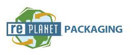 rePlanet Packaging Logo