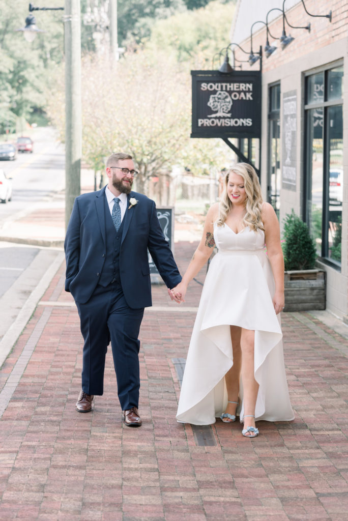 Dusty Blue + Blush Vintage Wedding, Molly + Richard, Vintage Industrial Wedding, The Corner District, North Georgia Wedding Venue, Atlanta Wedding Venue