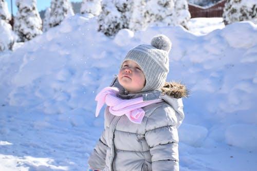 Little girl in snow