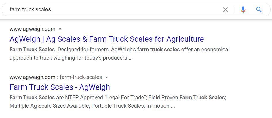 agweigh weigh scales seo