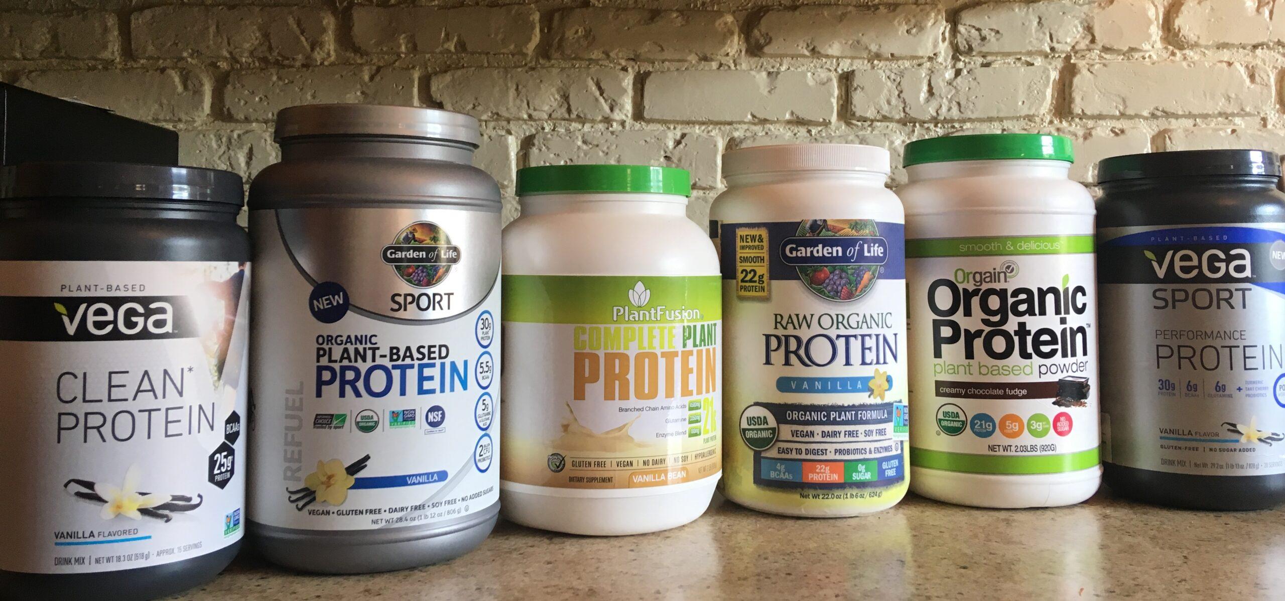 plant based vegan protein powders