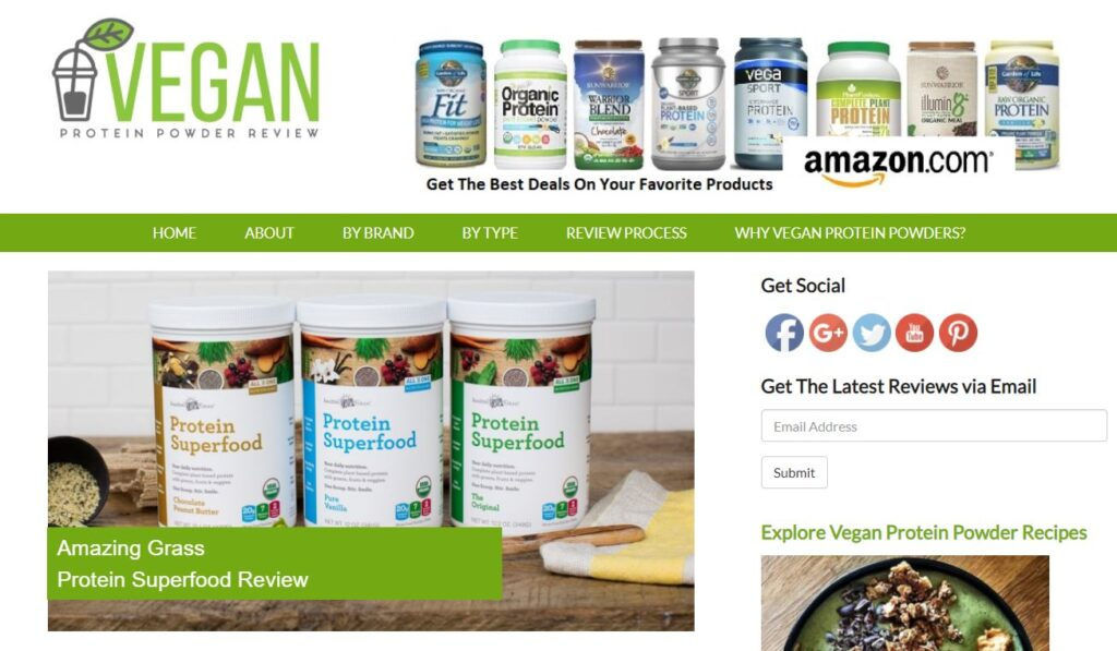 vegan protein powder review seo content strategy