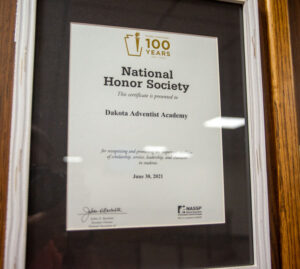 National Honor Society wall plaque
