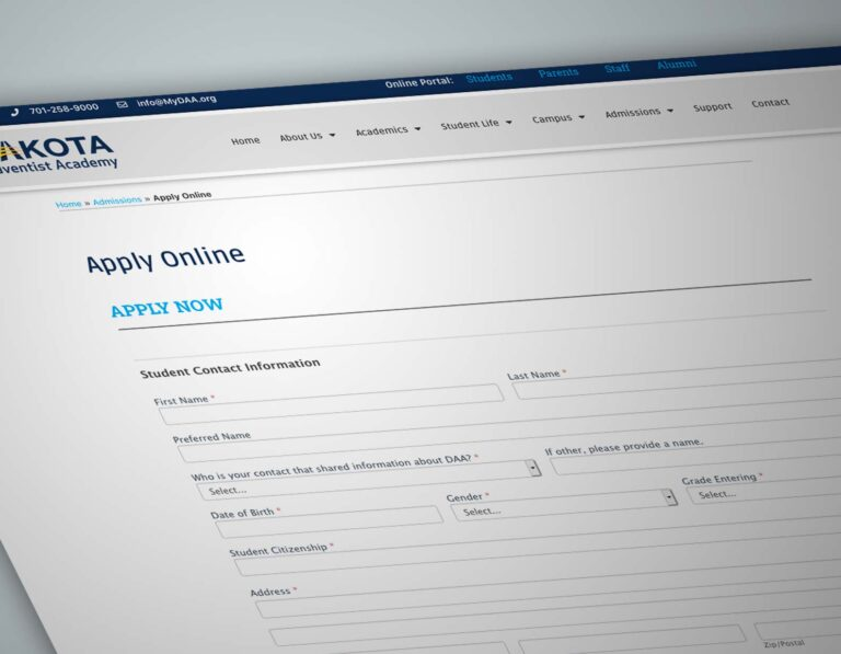 DAA onlline enrollment application form