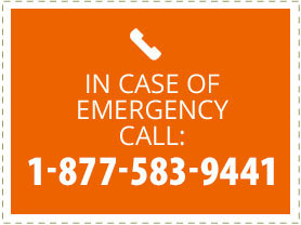 In Case of Emergency Call: 1-877-583-9441