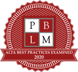 PBLM - ALTA Best Practices Examined Seal