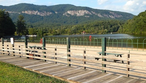 Boardwalk Along Lake Lure Beach