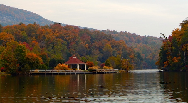 Lake Lure Fall Leaves