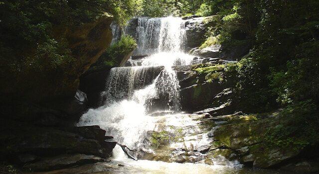 Hiking Little Bradley Falls Saluda NC
