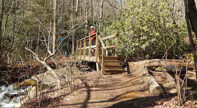 Bridge on Little Bearwallow Falls Hike
