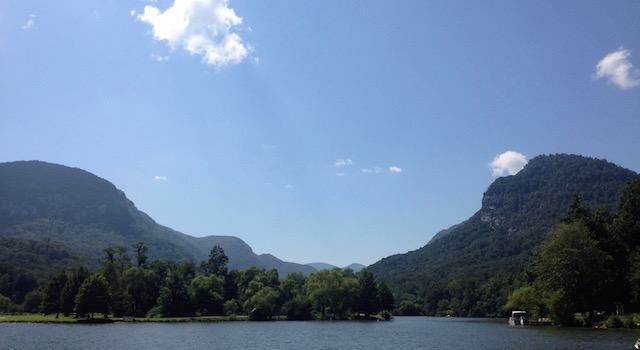 Lake Lure and the Surrounding Mountains