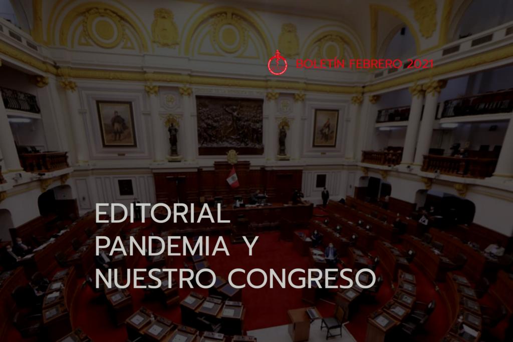 Editorial Pandemia y Nuestro Congreso