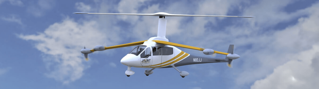 Image of Jaunt Air Mobility's eVOTL Aircraft, the Jaunt Journey