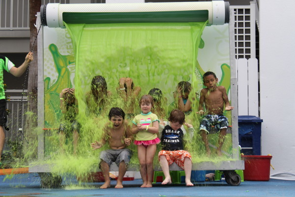 Getting slimed at the Nick Hotel Orlando Florida