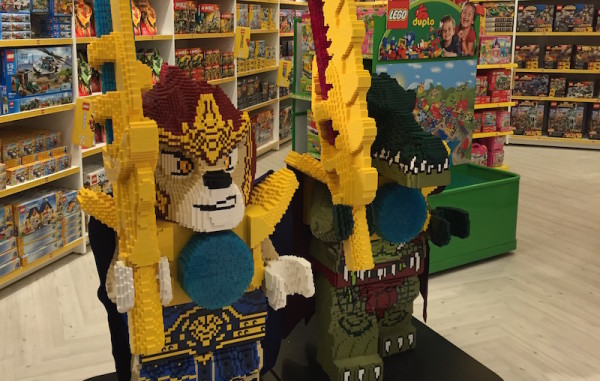 The Lego section at Indigo Kids Toronto Eaton Centre