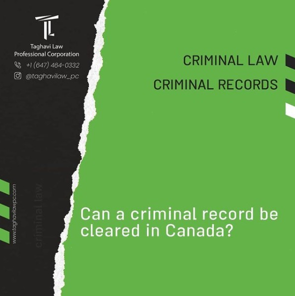 Can a #criminal record be cleared in #Canada?