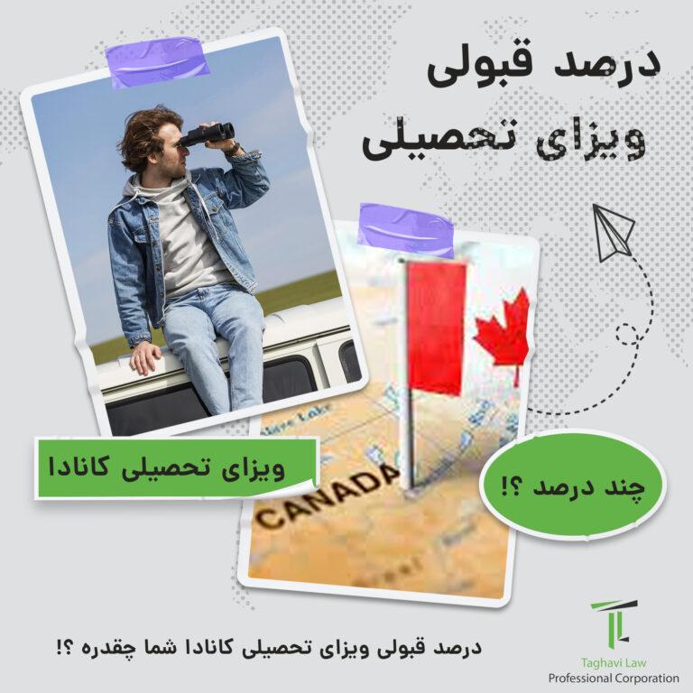 درصد قبولی ویزای تحصیلی کانادا