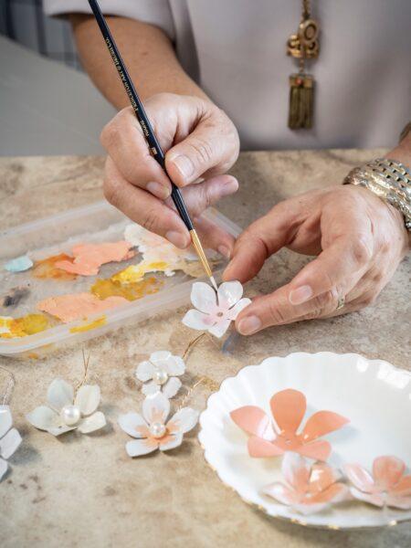 handcrafted bridal accessories DAVERO BRIDAL luxury hair pieces