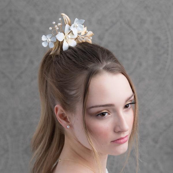 wedding hair comb elegant bridal accessories floral custom jewelrywedding hair comb elegant bridal accessories floral custom jewelry