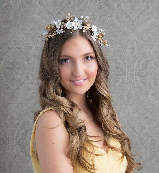 floral hair vines wedding accessories bridal jewelry