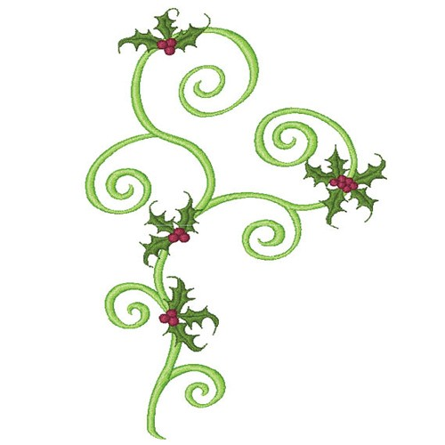 Center Scroll with Holly